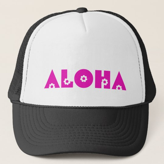 Aloha in Pink Flowers Cap