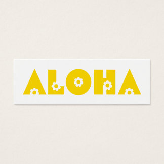 Aloha in Yellow Flowers Mini Business Card