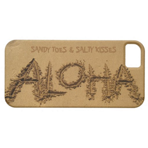 ALOHA iPhone, Sandy Toes & Salty Kisses iPhone 5 Case