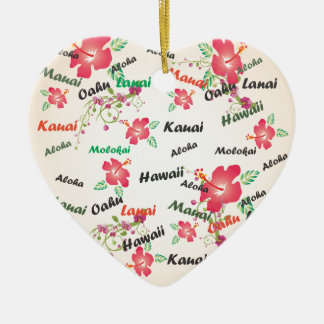 aloha, kauai, hawaii, oahu, maui, lanai background christmas ornament