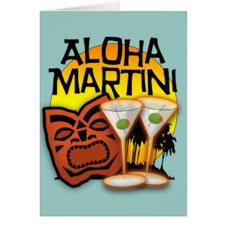 Aloha Martini Card
