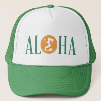Aloha Mermaid Trucker Hat Green