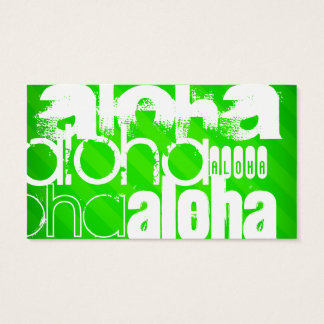 Aloha; Neon Green Stripes