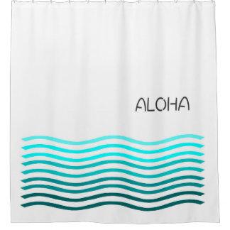 Aloha Ombre waves Shower Curtain