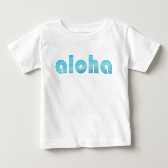 Aloha Pacific Ocean Blue Typography Baby T-Shirt