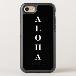 Aloha personalized Monograms Typography Black OtterBox Symmetry iPhone 7 Case