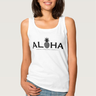 ALOHA pineapple (Black) Tank Top