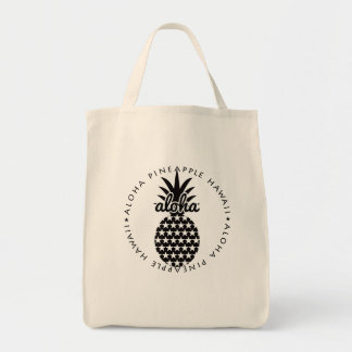 aloha pineapple hawaii shoppingbag tote bag