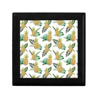 Aloha Pineapple Small Square Gift Box