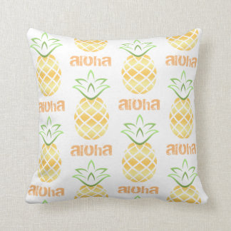 Aloha Pineapple Throw Pillow