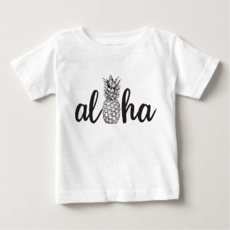 aloha pineapple tropical island kid shirt