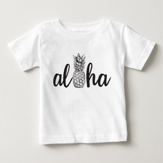 aloha pineapple tropical island kid shirt