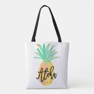 Aloha Pineapple Tropical Wedding Tote Bag