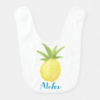 Aloha Pineapple Watercolor Bib