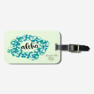 Aloha Plumeria Lei Bag Tag