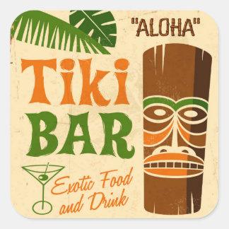 Aloha Poster Square Sticker