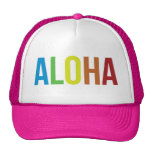 Aloha Rainbow Pink Cap