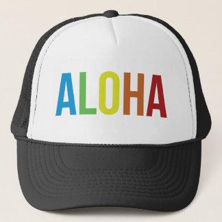 Aloha Rainbow Trucker Hat