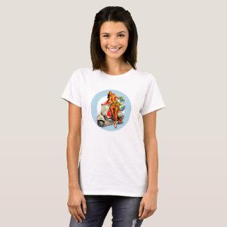 Aloha Scooter Girl Mod Target ladies white T-Shirt