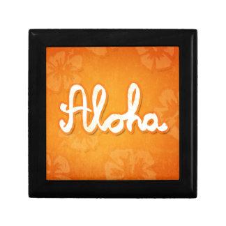 Aloha Small Square Gift Box