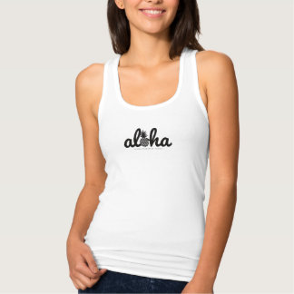 aloha (star) 057 black tank top