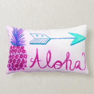 Aloha Summer Pineapple Narrow Design Decor Pillow