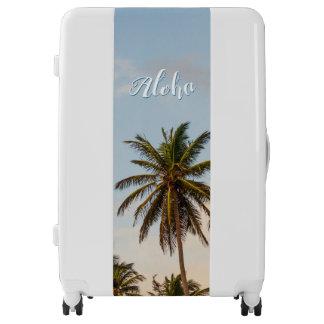 Aloha Sunny Paradise Sunset Palms Vintage Style Luggage