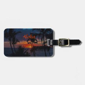 Aloha Sunset Luggage Tag
