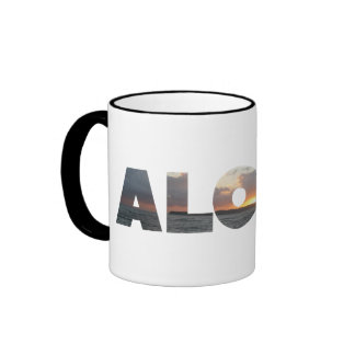 Aloha Sunset Ringer Mug