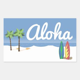 Aloha Surf Rectangular Sticker