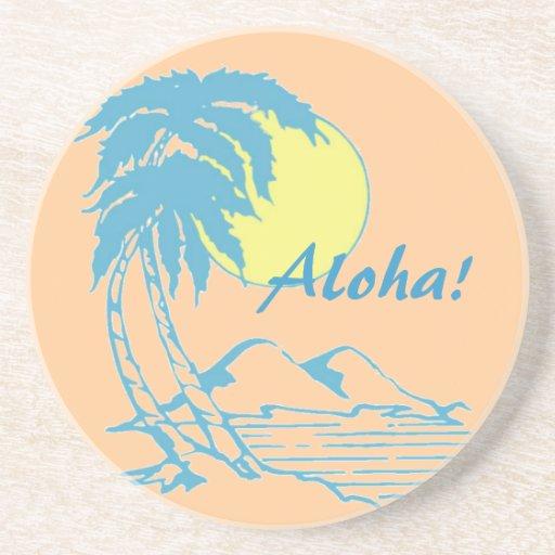 Aloha Tropical Hawaiian Design Beverage Coasters Zazzle