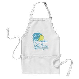 Aloha Tropical Hawaiian Design Standard Apron