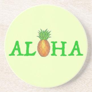 ALOHA Tropical Hawaiian Island Pineapple Fruit Coaster
