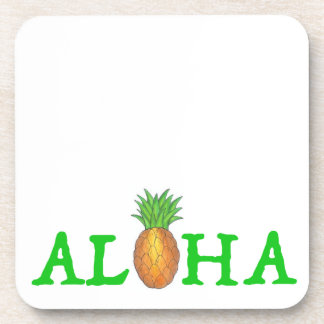 ALOHA Tropical Island Hawaiian Pineapple Coasters