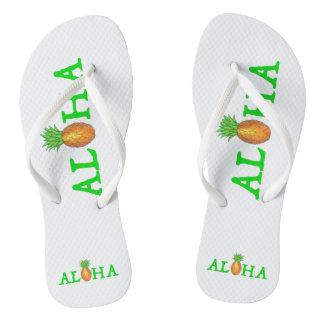 ALOHA Tropical Island Hawaiian Pineapple Flip Flop