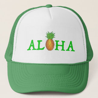ALOHA Tropical Island Hawaiian Pineapple Hat