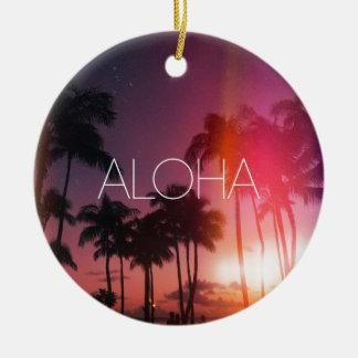 Aloha Tropical Night Christmas Ornament