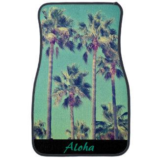 Aloha Tropical Vintage Palms Full Set of Car Mats