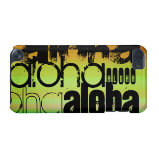 Aloha; Vibrant Green, Orange, & Yellow iPod Touch (5th Generation) Case
