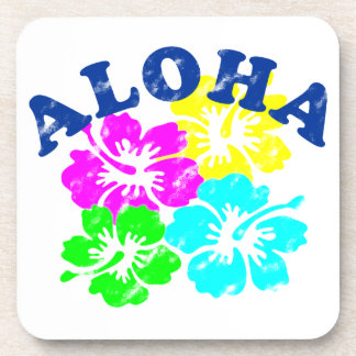Aloha Vintage Beverage Coaster Hawaiian Flowers