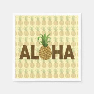 Aloha Vintage Pineapple Hawaiian Hawaii Disposable Napkins
