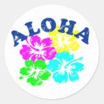 Aloha Vintage Round Stickers