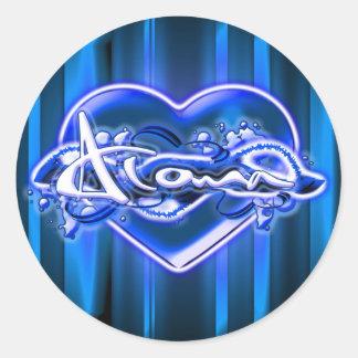 Aloma Round Sticker