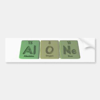 Alone-Al-O-Ne-Aluminium-Oxygen-Neon Car Bumper Sticker