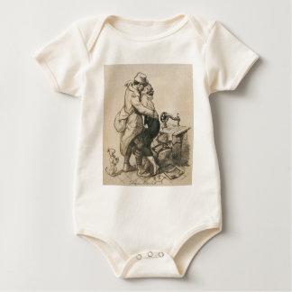 Alone at Last Enfin Seuls World War I Drawing Bodysuit