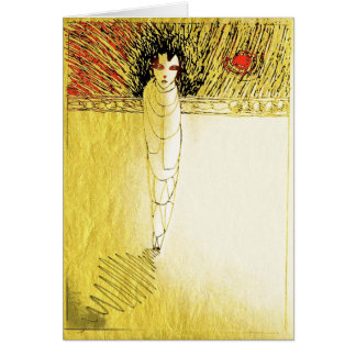 alone gold soul greeting card
