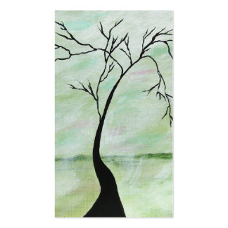 Alone I Waited Abstract Landscape Art Crooked Tree Pack Of Standard Business Cards