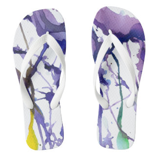 ''Alone in the woods'' Flip Flops