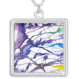 ''Alone in the woods'' Silver Plated Necklace
