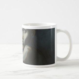 Alone with the moon basic white mug